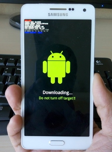 Boot into download mode in Samsung Galaxy S6