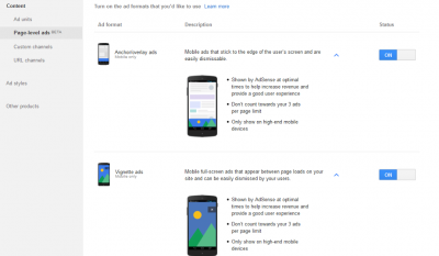 How to add the adsense mobile page level ads in blogger blogs
