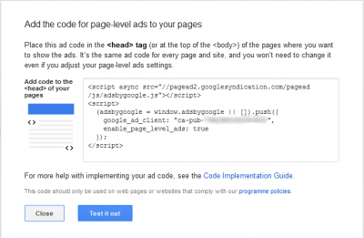 How to add page level ads on blogger blogs