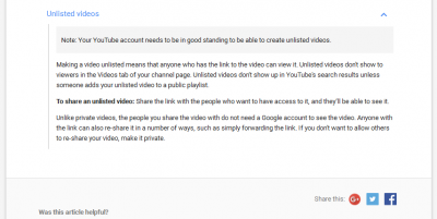 Use Youtube Unlisted Videos and Google Adsense Together